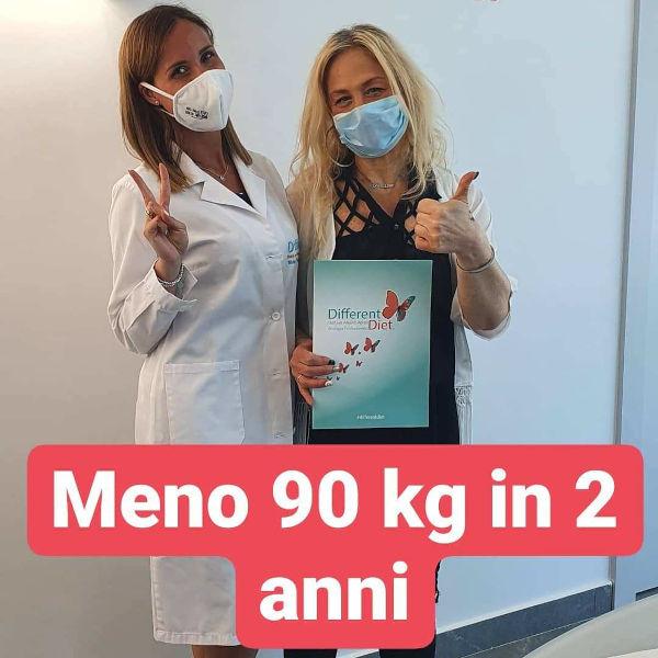 Daniela, meno 90 kg in 2 anni
