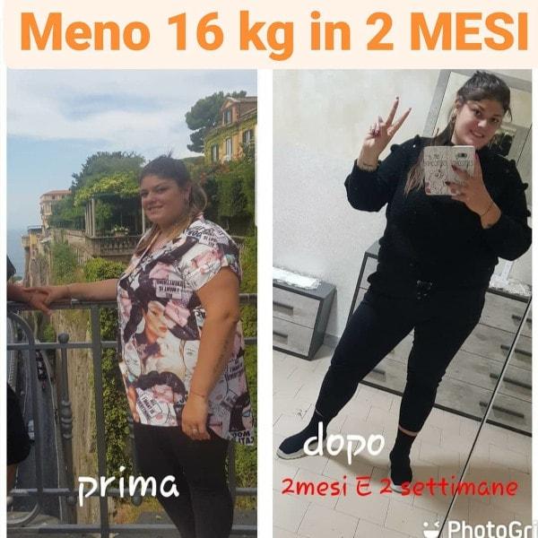 alessandra meno 16 kg in 2 mesi