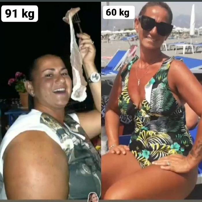 imma da 91 kg a 60 kg in poche mesi