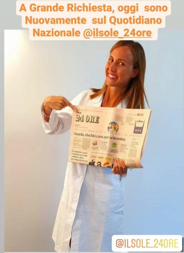 la dottoressa Alessia Aprea sul sole 24 ore