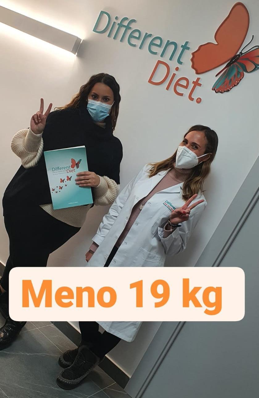 meno 19 kg con la Different Diet