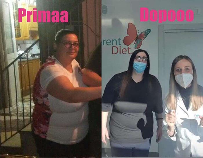 Elena, meno 24 kg con la different diet della dottoressa Alessia Aprea