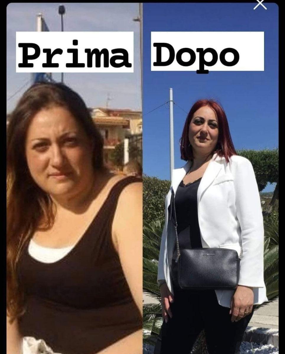 prima e dopo con la DifferentDiet della dottoressa Alessia Aprea